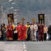 Литийното шествие и освещаването на Аспарухов мост